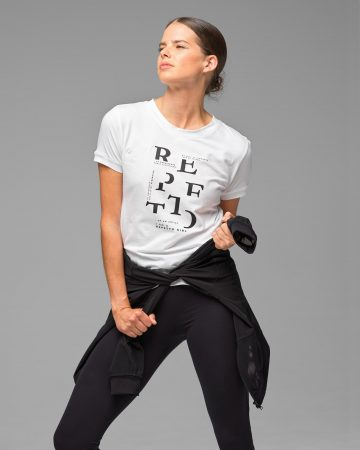 """Donna Repetto T-Shirt """"I Am A Repetto Girl"""" Bianco 